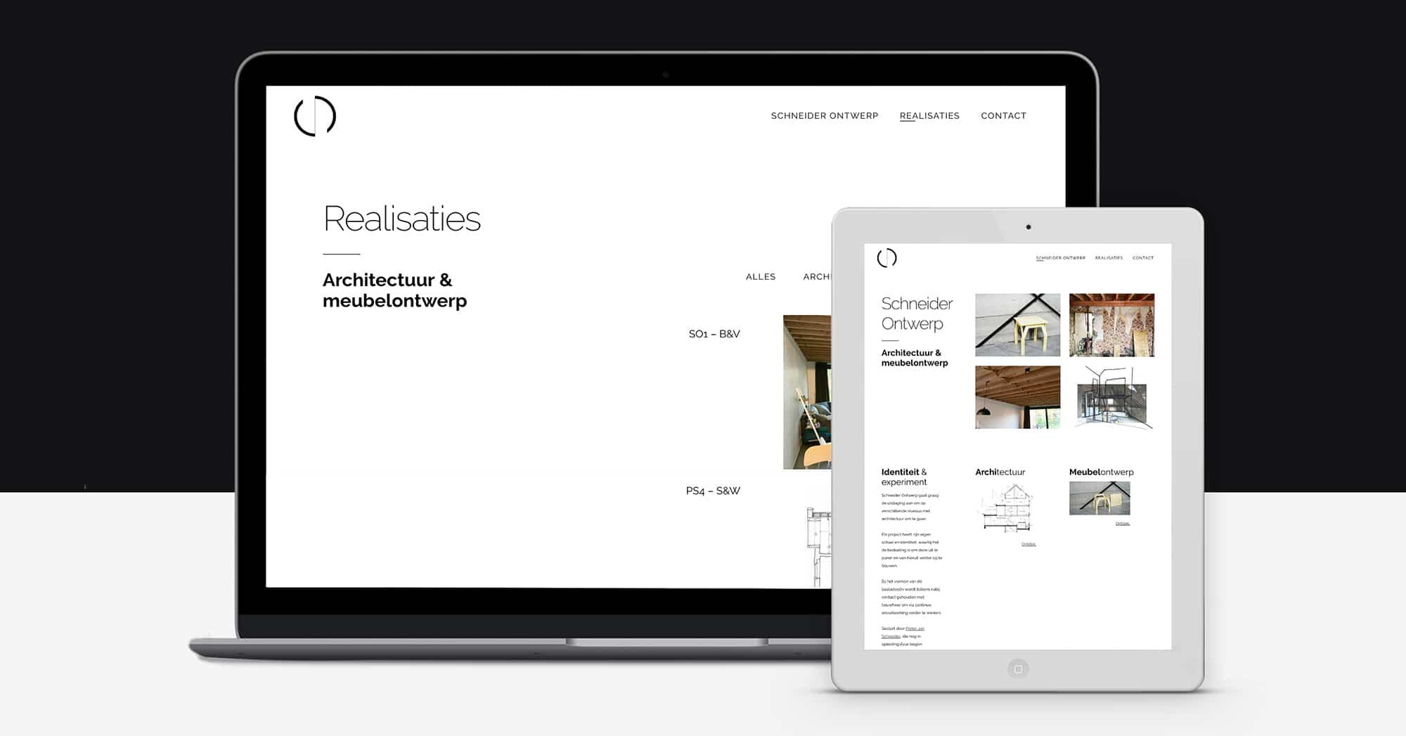 Schneider Ontwerp Portfolio Website Architectuur Architect Gent