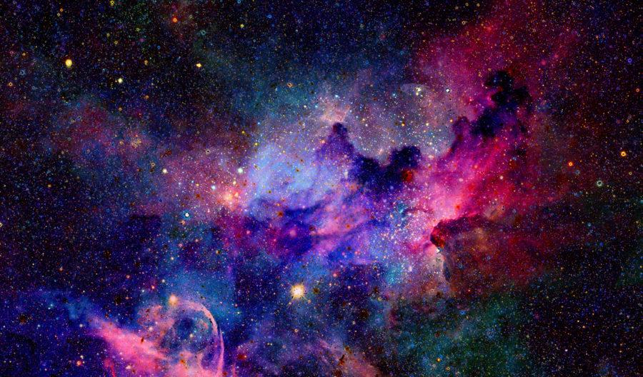 Graviteit sterren nebula aantrekkelijke communicatie design content concept nieuws blog
