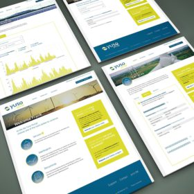 Portfolio Yuso portal visuals branding mockup Waregem Energie