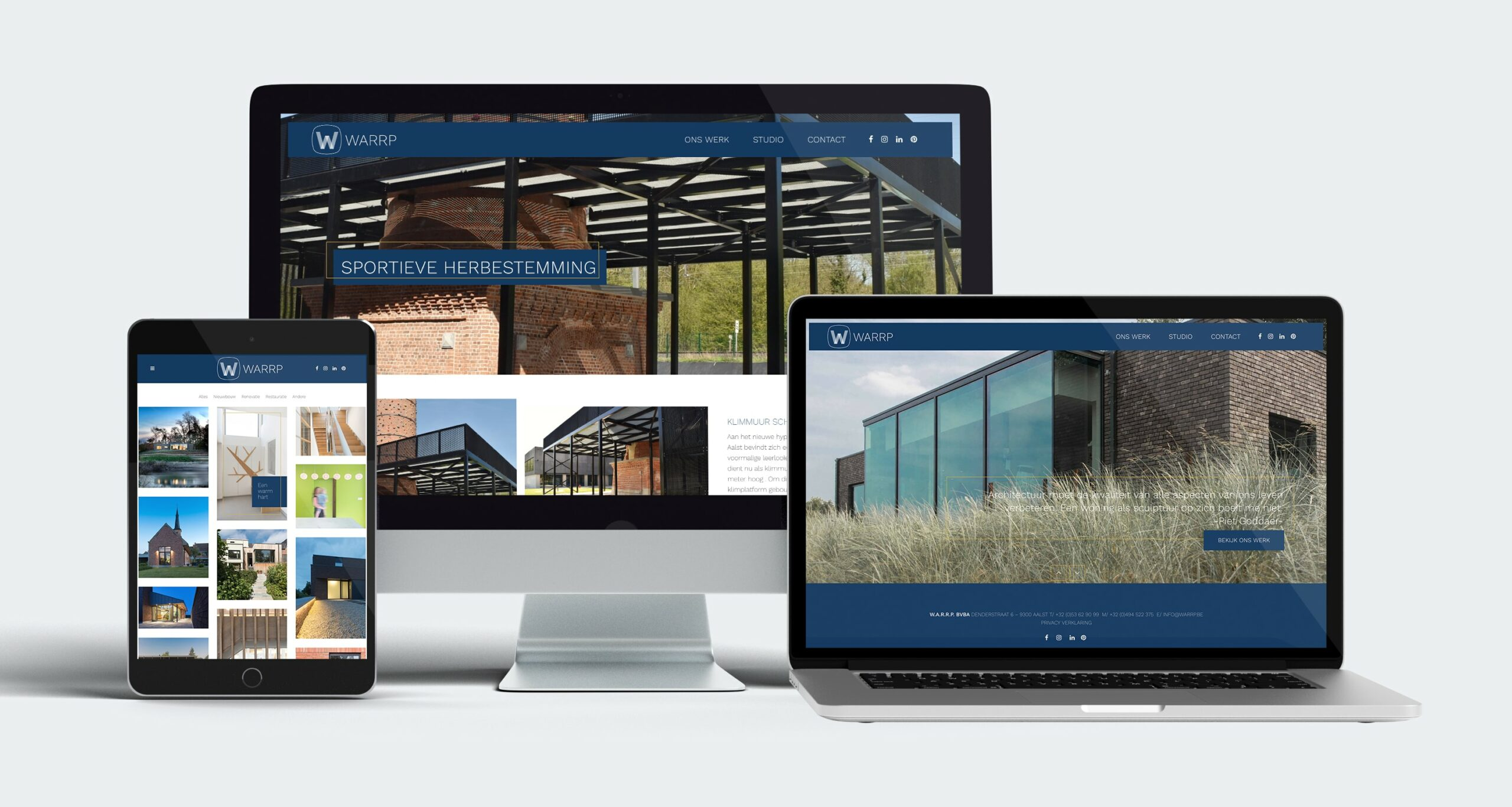 warrp portfolio website architect aalst