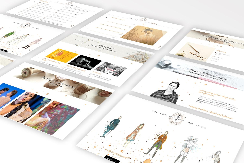 Elena Werner Portfolio Graviteit Webdesign Website