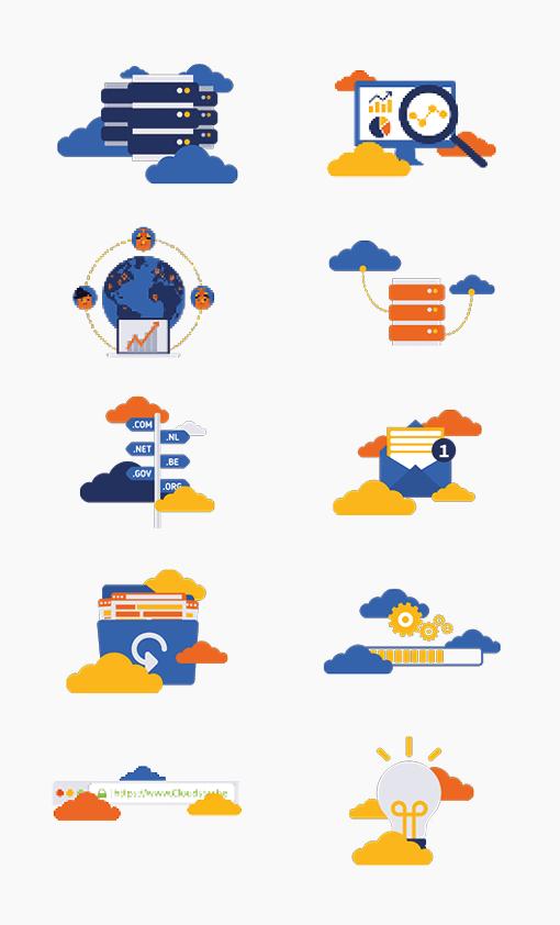 Cloudstar iconen graphics portfolio