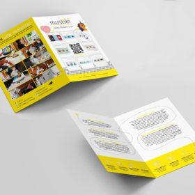 Mustiki portfolio mockup direct mailing brochure folder