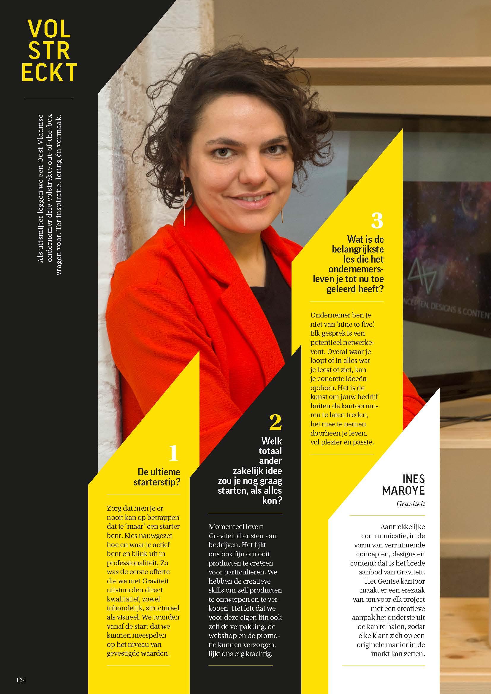 Wichels Gents Communicatiebureau Graviteit in Sterck Magazine Volstreckt