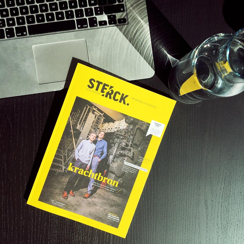 Wichels Gents Communicatiebureau Graviteit in Sterck Magazine Volstreckt Anglo Belgian Corporation ABC