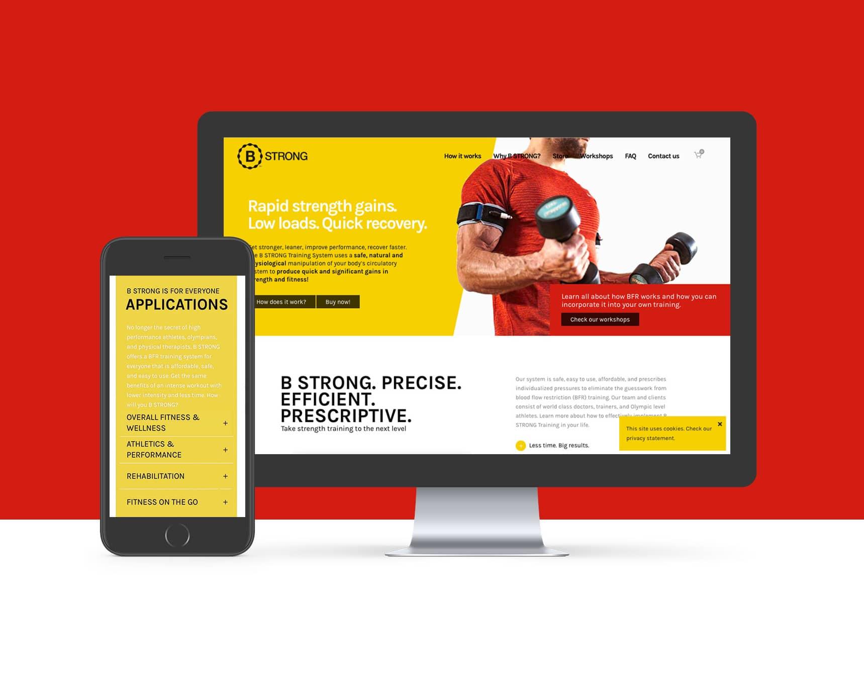 B Strong website portfolio Graviteit