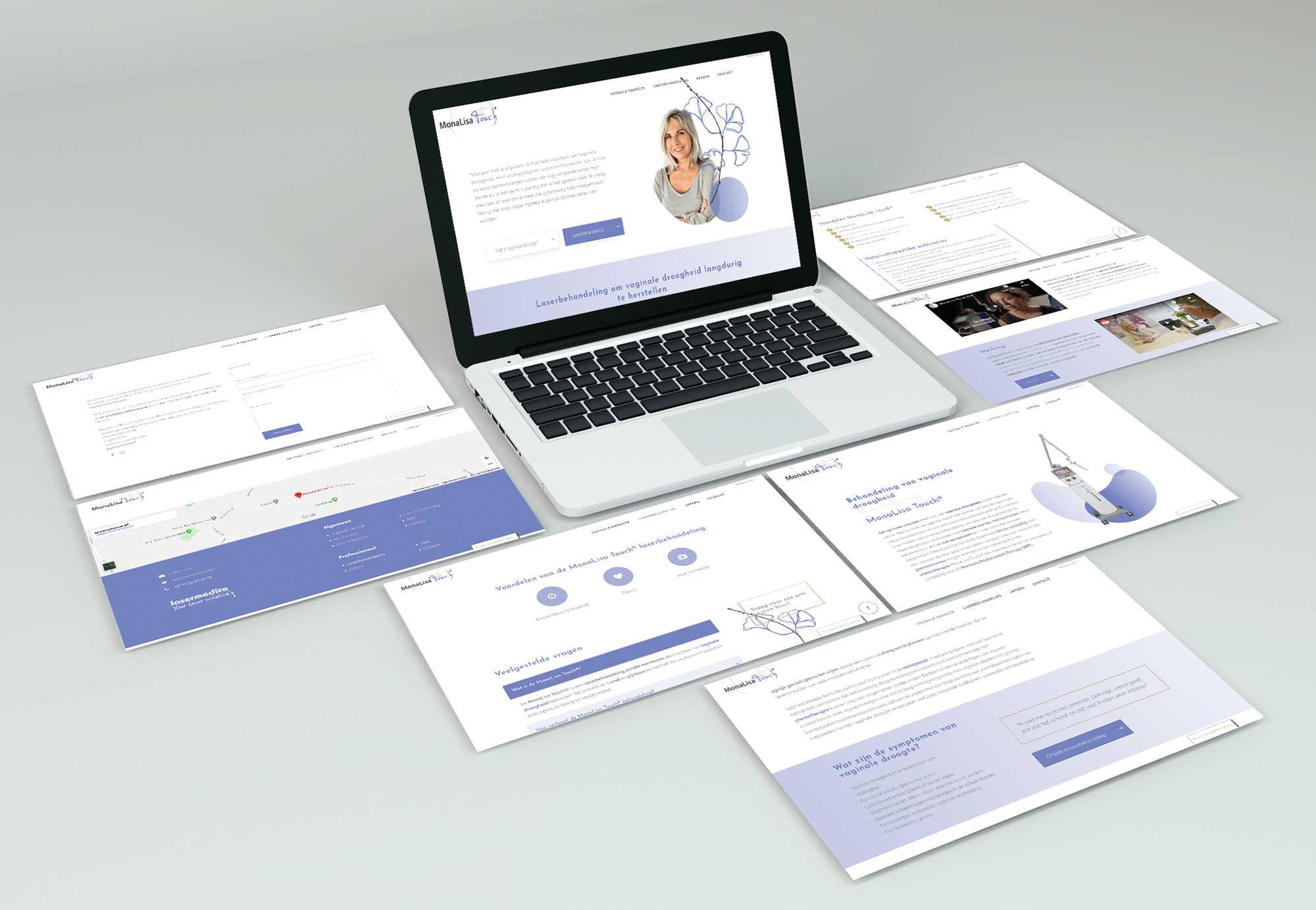 MonaLisa Touch website mockup portfolio laptop