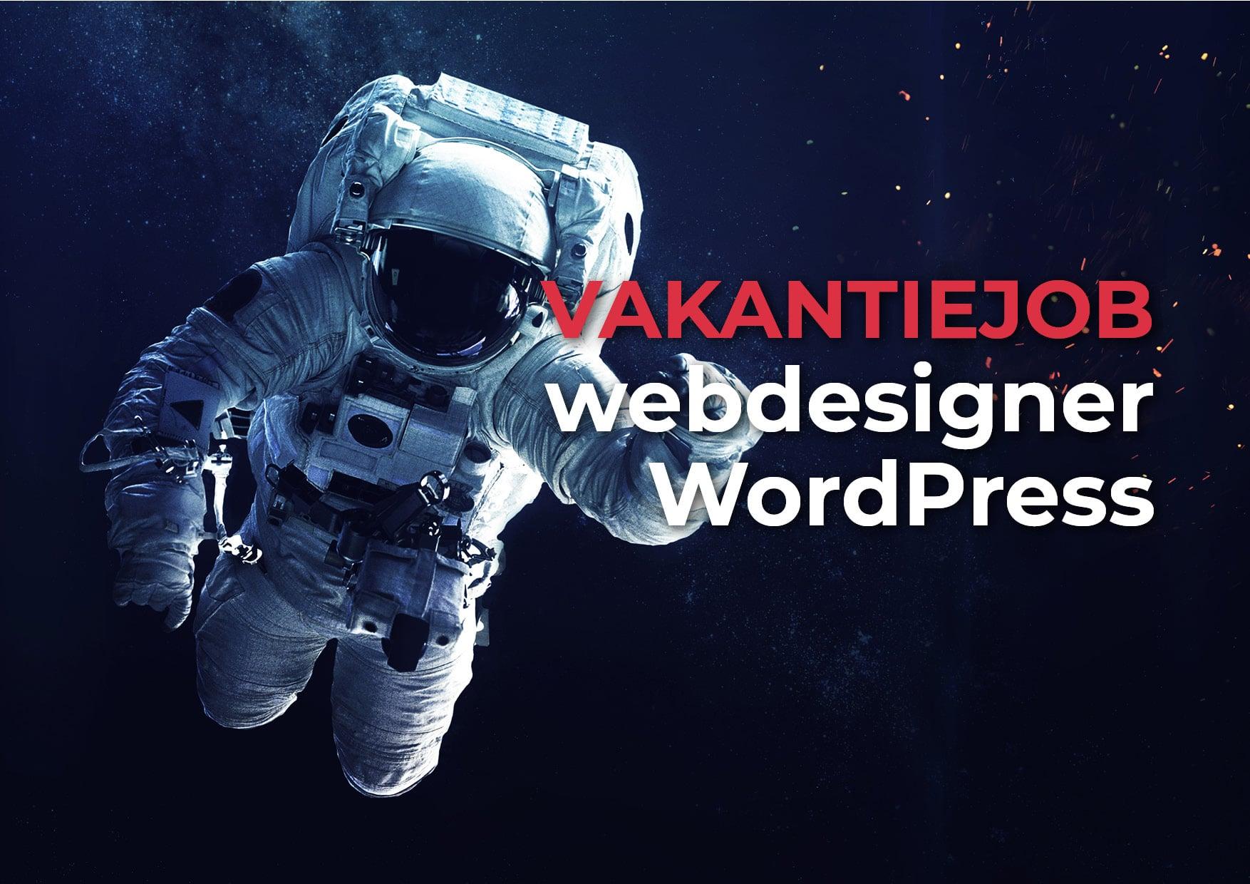vakantiejob studentenjob webdesigner webdesign wordpress